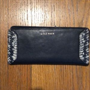 Navy and Snake print Cole Haan Wallet